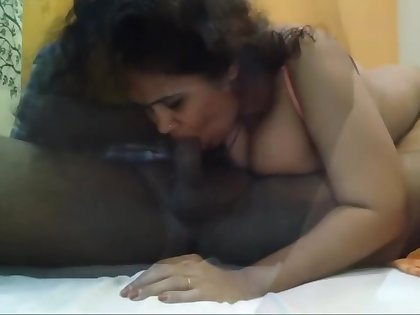 Neighbours Busty Indian Wife rides his dick and bounces her huge oiled tits