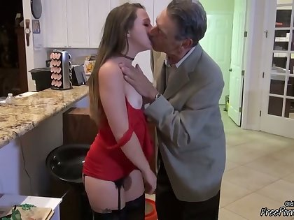 Ancient Rich Grandpa Gets Young Pussy
