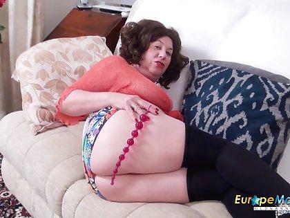 Comeback fatty forth huge belly Trisha who loves masturbating her holes every so often