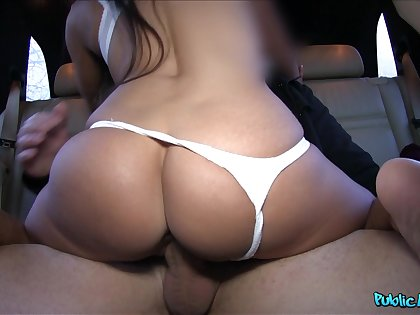 Big hot goods girl rides on the everywhere seat then sucks cock sterile