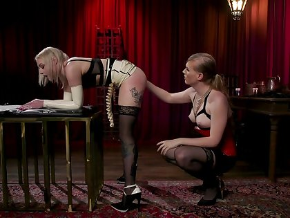 Blonde Arielle Aquinas is fucked and punished by kinky wireless