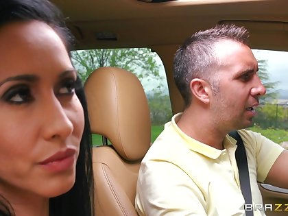 Threesome in excess of be passed on bed wide sluts Isis Love and Luna Star. In HD