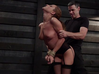 Obedient MILF receives harsh treatments be required of both her love holes