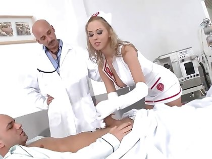 Mandy Dee - Blue Busty Nurse Administers DP