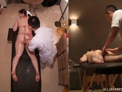 Hot exasperation Asian chick Nakamura Chie enjoys having sex in doggy