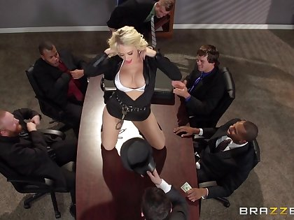 Prex blonde secretary Kagney Lynn Karter fucked on make an issue of table