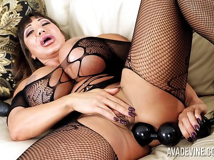 Legend of adult videos Ava Devine is stretching anal hole with possibility sexual relations toys