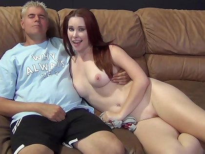 Sexy redhead chick Melody Jordan gets fucked wide of a tattooed guy