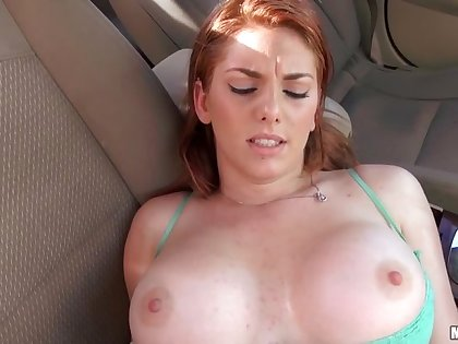 Stranded Redhead Teen Wants That Dick